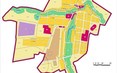Карта градостроительного зонирования с.Красноборск