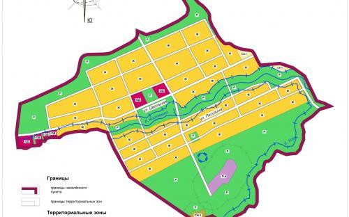 Карта градостроительного зонирования с.Алешкино
