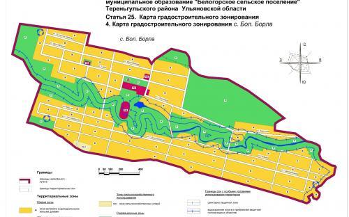 Карта градостроительного зонирования с.Большая Борла