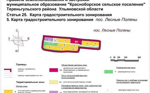 Карта градостроительного зонирования пос.Лесные Поляны