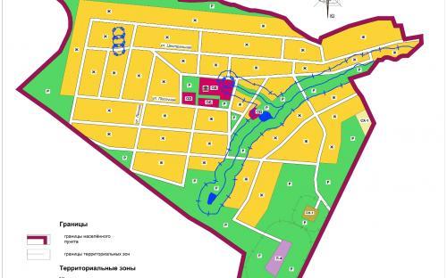 Карта градостроительного зонирования с.Еремкино