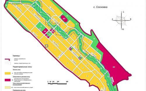 Карта градостроительного зонирования с.Сосновка