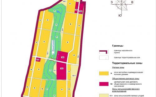 Карта градостроительного зонирования с.Новая Ерыкла