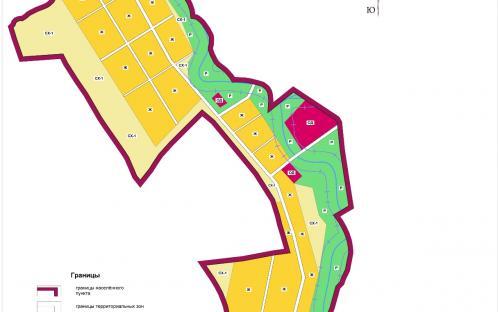 Карта градостроительного зонирования с.Старая Ерыкла