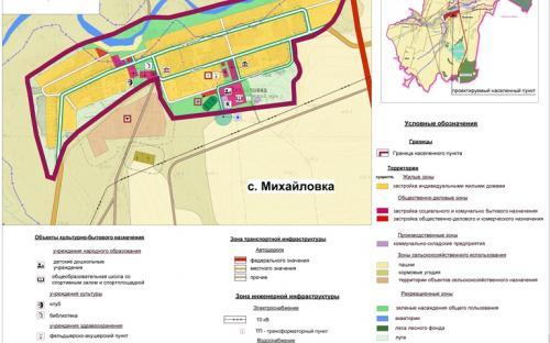 Генеральный план с.Михайловка