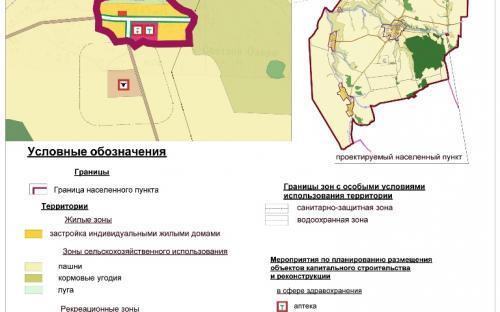 Генеральный план д.Светлое Озеро